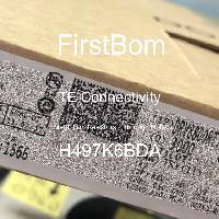 H497K6BDA - TE Connectivity - 금속 필름 저항기-스루 홀