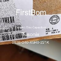 0838-040-X5R0-221K - Tusonix - 세라믹 디스크 커패시터