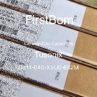 0811-040-X5U0-682M - Tusonix - 세라믹 디스크 커패시터